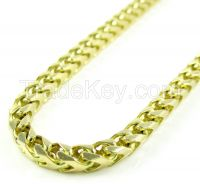 14K Yellow Gold Franco Link Chain 36 Inch 3.65mm