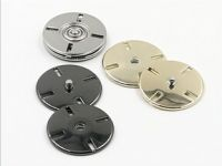Fashionable Thinnest flat metal button Snap fastener for coat cloth