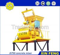 JS750 concrete mixer with skip hoist