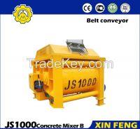 JS1000 Cement mixer with belt conveyor