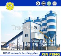 HZS60 concrete batching plant with belt conveyor
