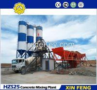 HZS25 hot sale concrete batching plant price