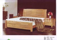 pure wood double bed