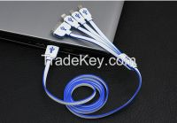 Mobile phone cable USB iphone charging cable cord 4 in 1