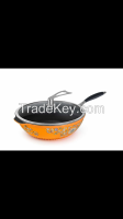 painted enamel pure ceramics Non-stick Non-broken wok pan