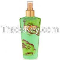 Victoria's Secret Garden Pear Glace Refreshing Body Mist Splash 8.4 fl oz (250 ml)  A sparkling blend of pear nectar, cassis, and violet, with hints of muguet and sandalwood.  Refresh with fragrance from a Secret Garden, infused with moisturizing Alo