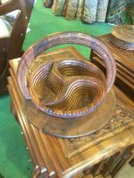 Pakistani Wooden Basket Carved Collapsible Handicrafts Manufacturers