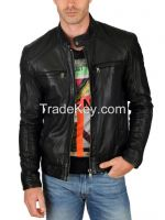 Leather Jacket For Men - Black / Brown Attractive Stylish