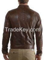 Men's Genuine Lambskin Leather Jacket Black Slim fit Motorcycle jacket