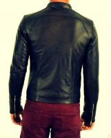 Prime Black Men's Slim Fit Leather Jacket Genuine Lambskin