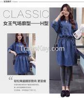 2016 chun xia han edition dress son ink printed on the new dress