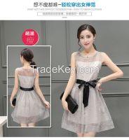 2016 New Summer Dress Lady T-shirt thin slim skirt Korean small fragr