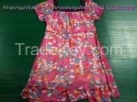 Import Ladies Silk Dress Cream Quality Used Clothing For Europe style