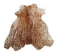 Animal Printed on Genuine Cowhide Leather Furs.