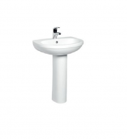 Ceramic Pedestal Basin White color
