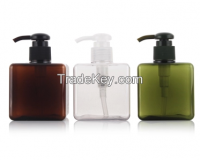 100ml 150ml 200ml 300ml 400ml 500ml amber color cosmetic plastic shampoo bottle