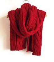 fans jacquard football scarf with tassel