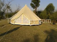 6M outdoor camping canvas bell tent