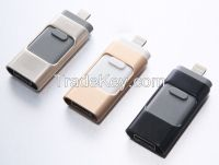 3-in-1 OTG USB Flash Drive For Apple IPhone IPad Android PC(SUO002)