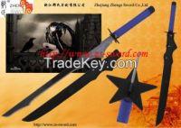 cartoon & anime BLACK ROCK SHOOTER cosplay Kuroi Mato steel star sword