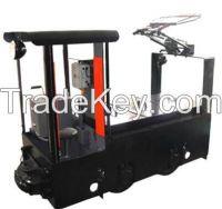 Electric Fuel type 1.5 Tons Trolley Locomotive, High Quality Mining Locomotive, Overhead Locomotive,