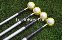 Semi-manufacture steel hand-push golf ball picker