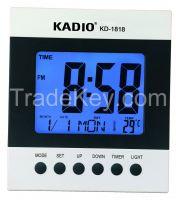Digital Clock Wall Clock Desk Clock LCD Clock WITH CALENDER KD-1818