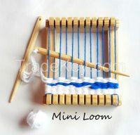 Mini travel weaving loom kit