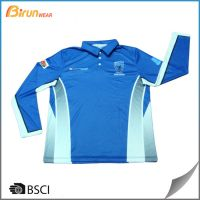 Custom tailor sublimated long sleeve mens polo shirts