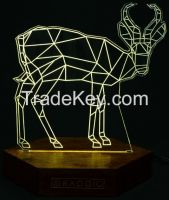 artistic engraved acrylic led lighting