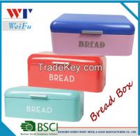 Colorfull Metal Bread Box