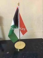 Desk Top Flag with base & pole