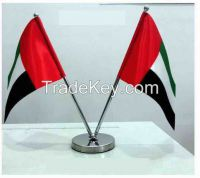 Desk Top Flag with base & pole