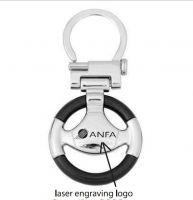 Steering Wheel Shaped Keychain Design