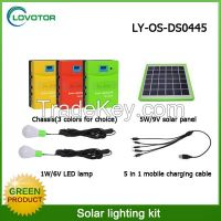 Solar lighting kit LED bulb light use solar panel charger