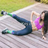 New Womens Yoga Running Sport Pants High Waist Leggings Gym Fitness Trousers