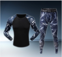 Men's Colorful Compression Under Base Layer Sets SkinTight sports Fitness  sets quick dry