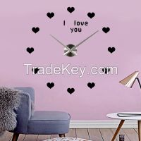 Modern Decor Time Wall Clock Silver Mirror Wall Clock