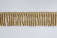 Decorative Gold and Coffee Bullion fringe for curtain