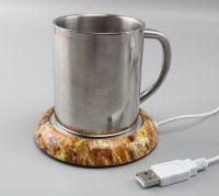 USB CUP WARMER wood color, usb coffee cup warmer