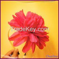 2016 hair accessories, bulk multilayer flower headbands for girls