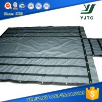 black pvc d-ring tarpaulin sheet