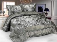 Taffeta flocking comforter set 3pc