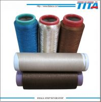 Dope dyed filament thread for computer embroidery machine, for knitting, weaving, sewing