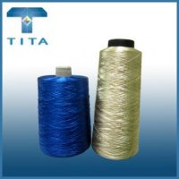 180-600TPM hot sale real gold polyester embroidery thread from Hangzhou