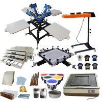 4 color 4 station silk screen printing machine t-shirt printer press equipment carousel