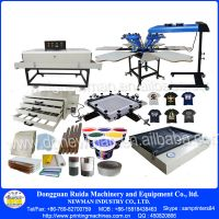 New Condition 6 color 6 station hand screen printing machine
