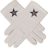 High Quality Cotton Masonic Gloves With Embroidered Logo