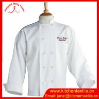 Direct manufacturer unisex cotton/polyester Restanurant uniform hotel uniform chef jacket
