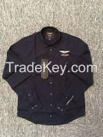 100% cotton fashion yarn dyed high quality boy's/kid's casual shirt